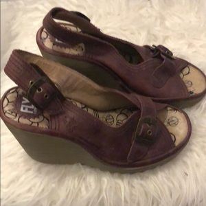 Fly London Shoes - Fly London purple wedges